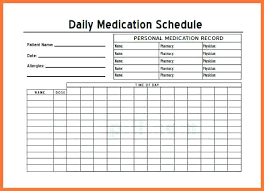 Personal Daily Medication Log Sheet Pictures To Pin On Schedule ...