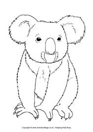 Small Picture Koala Colouring Page 3 Craft from others Pinterest