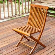 teak wood chairs. Stock Photo - Teak Wood Chair Stand On The Terrace Chairs
