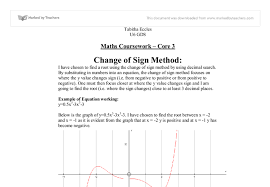 mathematics coursework ocr a level a level maths marked by  document image preview