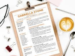 Resume Template Gabriella Stone