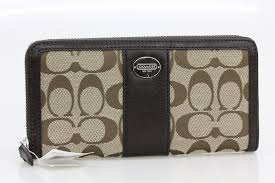 Coach COACH legacy signature Croc accordion wallet 48463 SKHMA Brown canvas    leather beauty products