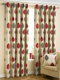 leaves ready made eyelet curtains