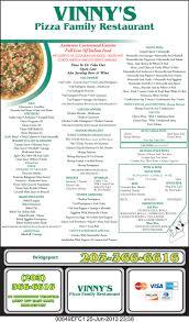 Vinny's Pizza Family Restaurant Menu | Bridgeport, Ct