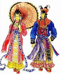 Костюм Древнего Китая мужская и женская одежда Древнего Китая