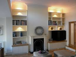 lounge lighting ideas. built in alcove shelving lounge lighting ideas
