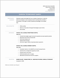Surgical Tech Resume Sample Surgical Tech Resume Sample 2019 Sample