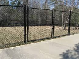 chain link fence double gate. Chain Link Fence Driveway Gate Double