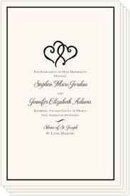 Wedding Ceremony Program Cover Wedding Programs Cover Rome Fontanacountryinn Com