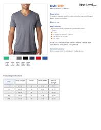Next Level 6040 Triblend Short Sleeve V