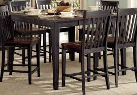 homelegance three falls counter height table two tone dark brown black sand