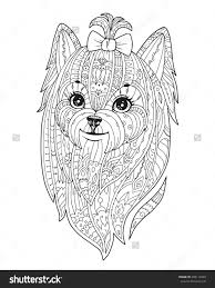 Adult Coloring Page With Purebred Dog