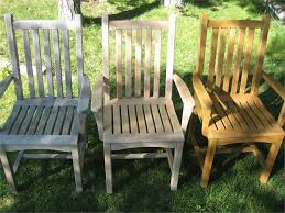 teak furniture before and after