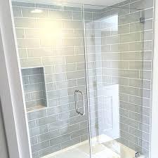 gray subway tile shower best gray shower tile ideas on large tile shower intended for modern