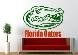 florida gators wall decor gators logo sports vinyl wall decal home decor vinyl wall decor
