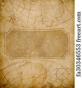 Free Art Print Of Old World Map Background