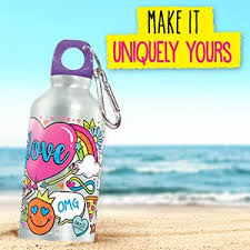 Creative diy personalized water bottle ideas Shark Water Bottle Crate Creativity Unique Custom Hydrate Markers Amazoncom Amazoncom Your Décor By Horizon Group Usa Color Your Own Water