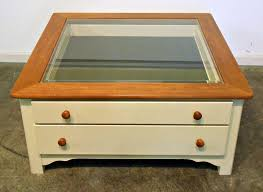 Coffee Table, Outstanding White Square Minimalist Wood And Glass Display  Coffee Table Designs To Complete ...