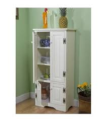 Amazon.com: Tall Kitchen Cabinet   White   Has Two Fixed And Two Adjustable  Shelves: Kitchen U0026 Dining