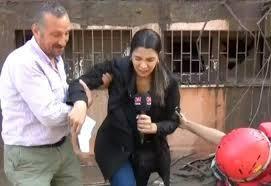 İş kazası geçiren CNN TÜRK muhabirinin zor anları canlı yayına yansıdı -  Dailymotion Video