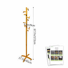 High Quality Coat Rack Cyanbamboo Coat Rack High Quality Bamboo Standing Coat Hanger With 100 45