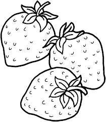 Small Picture Three Strawberries coloring page Free Printable Coloring Pages
