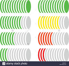 Circle Level Meter Gauge Comparison Chart Color Coded