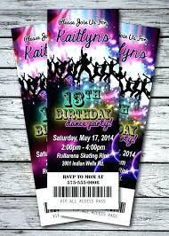 School Disco Ticket Template Party Invitation Cards Creative