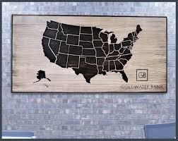 usa map on canvas inspirationa metal united states map wall art valid united states map wall