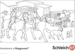 Kleurplaten Van Honden En Paarden