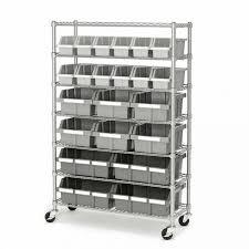 lovable commercial shelving on wheels 7 shelf commercial bin rack system 2 seville classics she16511