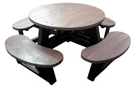 round large picnic table