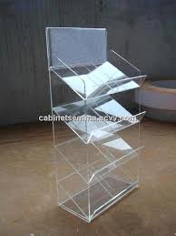 Plastic A4 Display Stands Custom Clear Plastic 32Tiers Magazine Rack Magazine 32 Tier 32 A32 Brochure