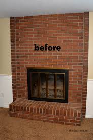 diy fireplace before