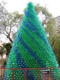 Recycled plastic bottle Christmas tree