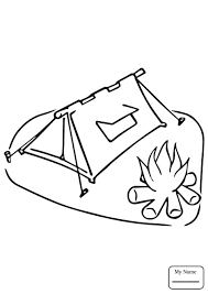 Small Picture coloring pages for kids hiking camping Building a campfire
