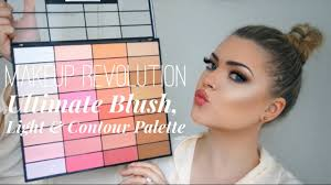 makeup revolution ultimate blush light and contour palette review swatches demo tutorial you