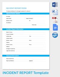 Excel Template Incident Report 10 Junio Relitetri