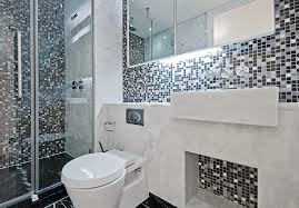 image of mosaic glass small bathroom tile ideas