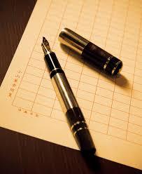 「ペンと原稿用紙のイラスト フリー」の画像検索結果