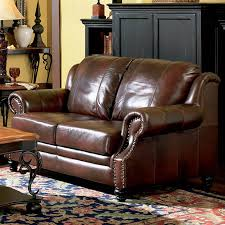 coaster fine furniture princeton dark brown leather loveseat