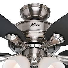 ceiling fan hunter ceiling fan light kit bulbs ideas hunter fan 52 brushed nickel finish