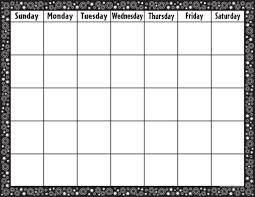 Black White Crazy Circles Calendar Chart