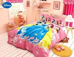 disney bedding sets cartoon princess printed comforter bedding set for girls bedroom decor cotton bedspread duvet