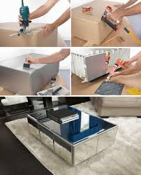 mirrored coffee table. How To Build A Mirrored Coffee Table I