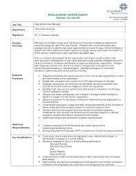 Data Warehouse Project Manager Sample Resume Mitocadorcoreano Com