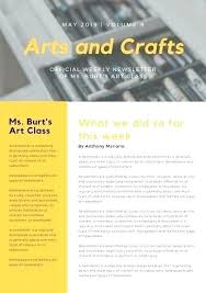 Examples Of Company Newsletters Yellow Photo Classroom Newsletter Internal Company Templates