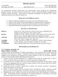 administration resume sample database administrator job  literature review of thesis how to write exemplification essay