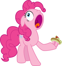 Image result for pinkie pie with a cupcake