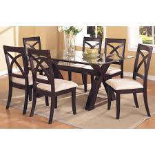 Glass top dining sets Classy Dining 7pcglasstopdiningset2040882750x750jpg Jmdecorandmorenet 7pc Glass Top Dining Set 2040